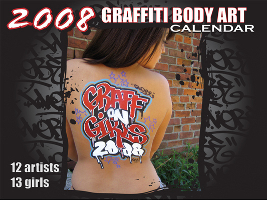 graffiti on girls calendar 2008