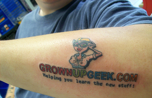 geek tattoo This guy is