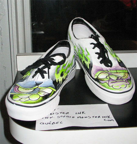 Art on Vans Shoes