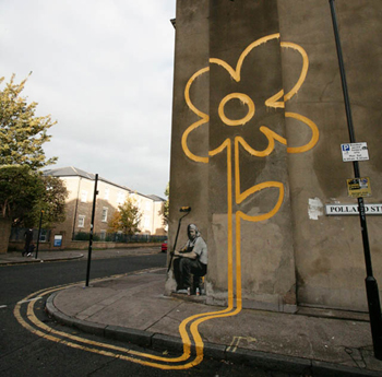 Banksy Flower Painting