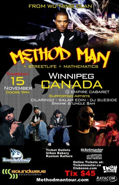 Method Man in Winnipeg