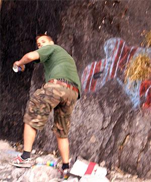 Glacier Graffiti Vandal