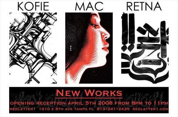 ART SHOW : KOFIE, MAC, RETNA