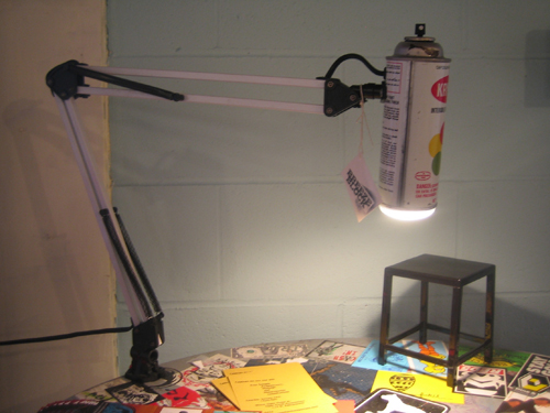 krylon spray paint desk lamp