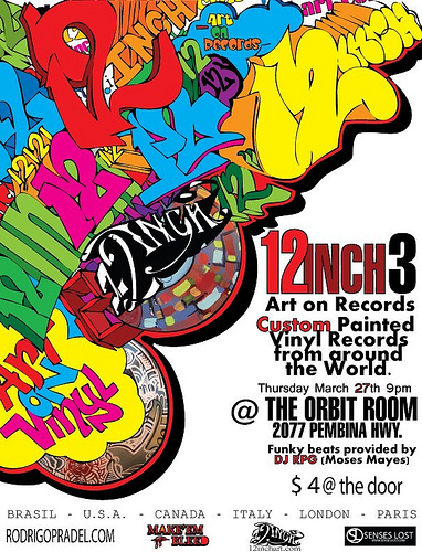12 Inch Vinyl Art Show 3 Tonight