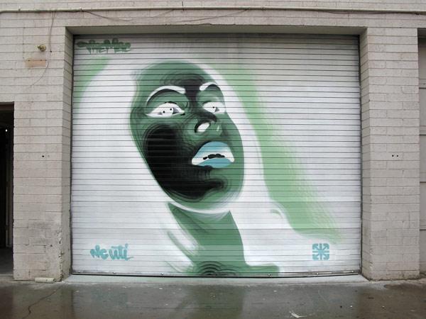 the mac graffiti art negative painting