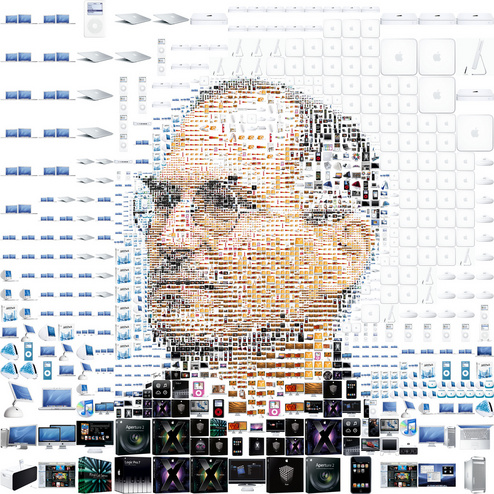 Steve Jobs Collage of Apple Products