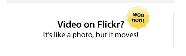 Video On Flickr?