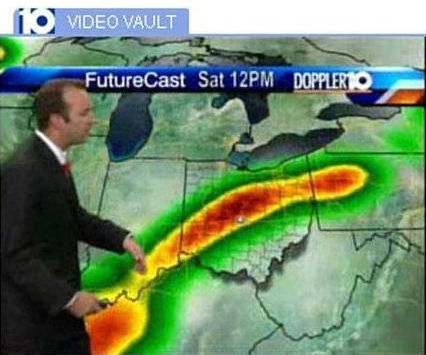 The East Coast Storm Looked Like A Huge Penis On This Weather Forecast