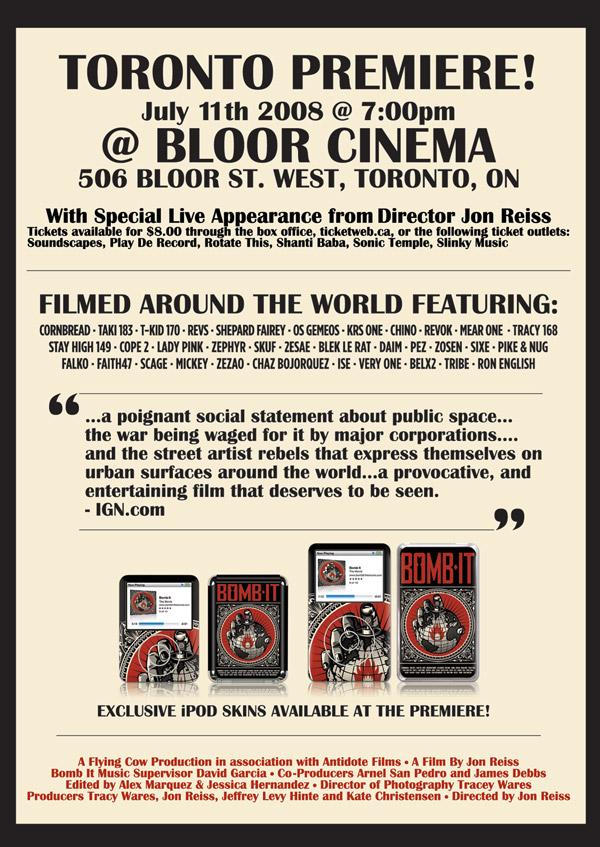 Bomb It Toronto Premiere