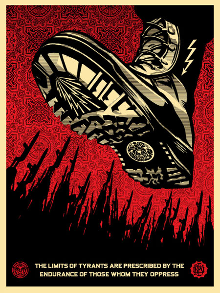 Tyrant Boot Poster Obey Revok