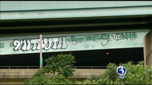 911 truth graffiti