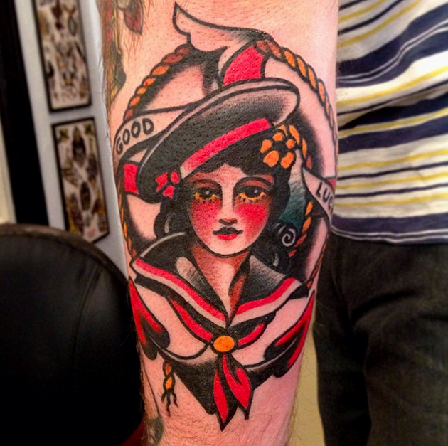 Austin Maples sailor tattoo