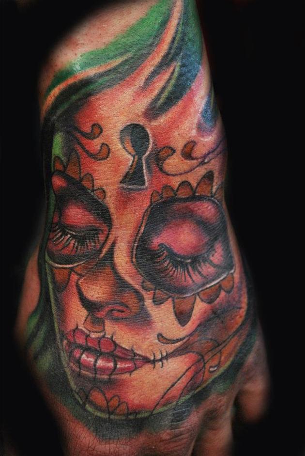 Derek Turcotte Living Dead Hand Tattoo