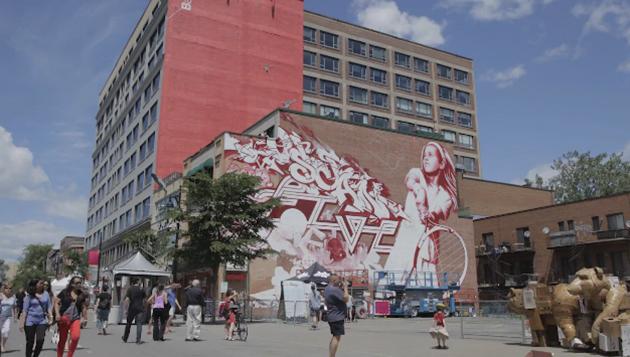 Festival Mural in Montreal