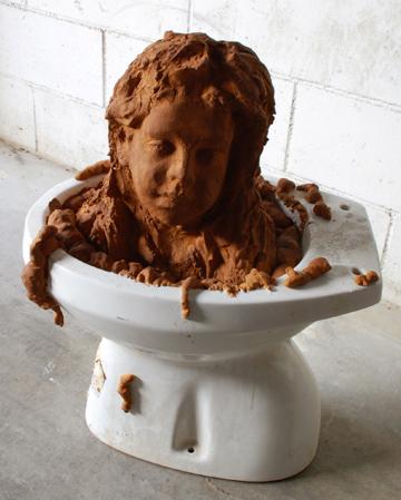 Fra.Biancoshock toilet sculpture