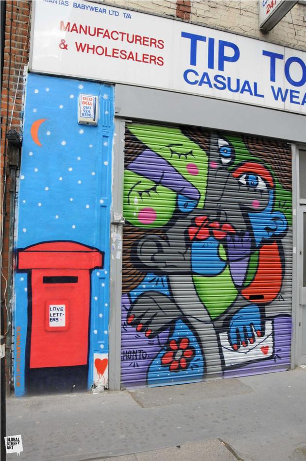 Hunto street art painting