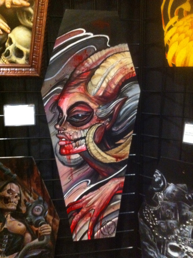 The Death Show coffin art