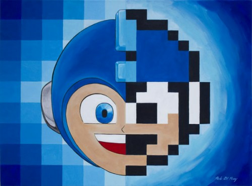 Mega Man pixel art