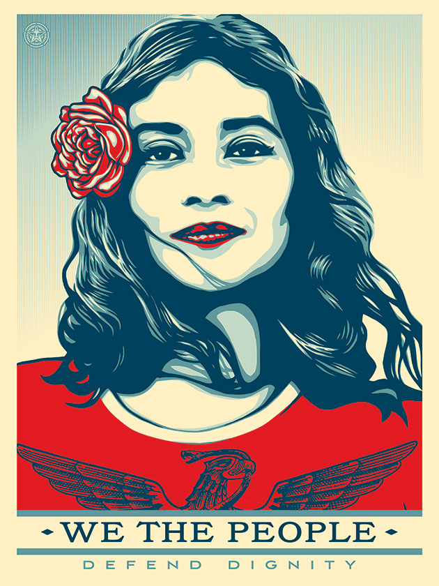 Shepard Fairey - Defend Dignity