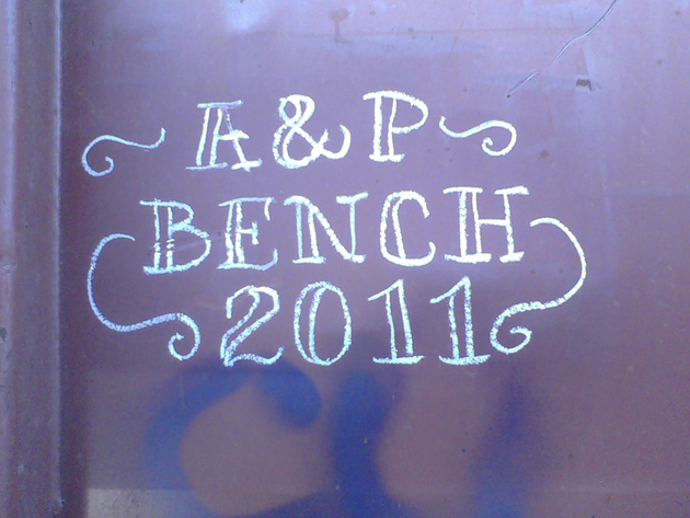 a and p bench 2011 moniker