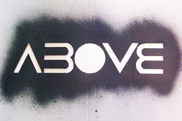 above stencil
