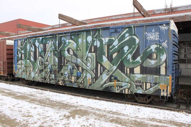 afex graffiti wholecar boxcar