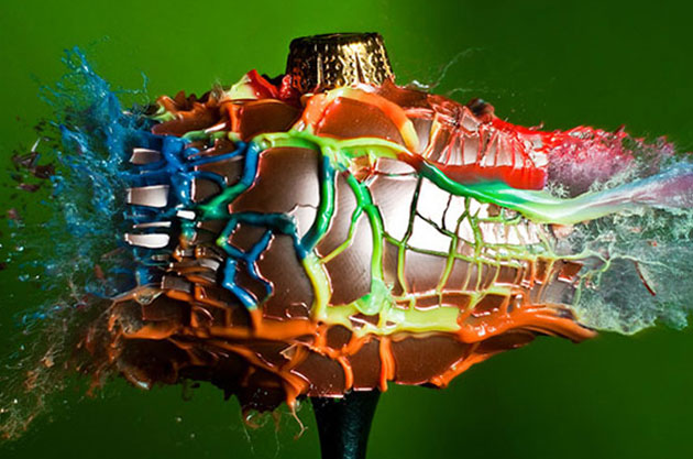 alan sailer christmas baubles exploding photography
