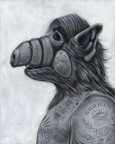 alf tattoo drawing