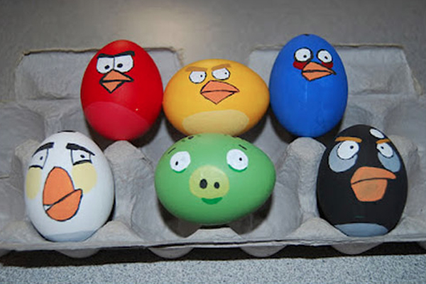 Cartoon Easter Egg Designs Senses Lost