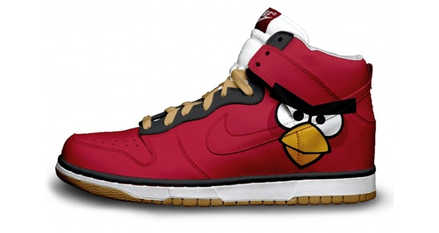 angry birds red nike shoe design