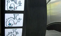Animated Stickers on Escalator