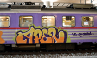 Aper Paints Trains Abroad