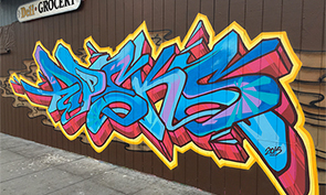 Apex and Atoms Graffiti