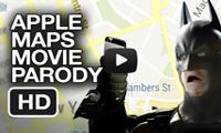 Apple Maps Dark Knight Parody