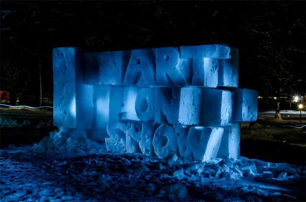 art on snow sculpture