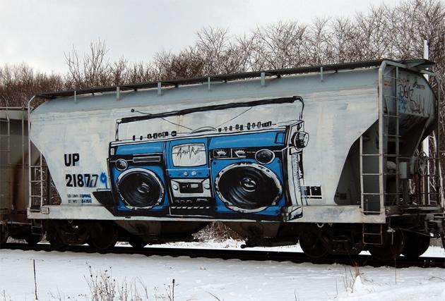 aware boombox freight graffiti