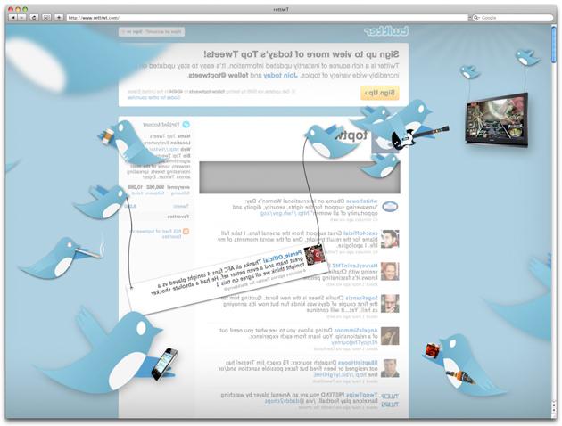 the back of twitter website