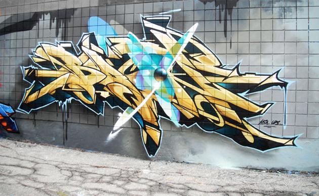 bacon graffiti toronto 2011