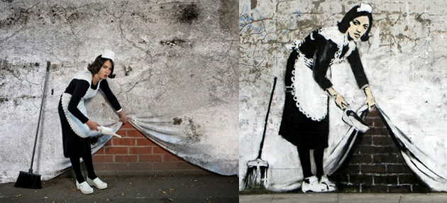 banksy maid recreated photography