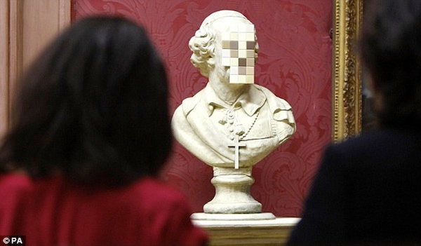 Banksy S New Pixelated Sculpture Senses Lost