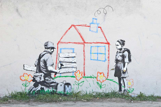 banksy stencil la