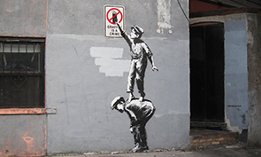 Banksy – Graffiti is a Crime