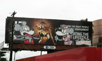 Banksy Billboard in Hollywood