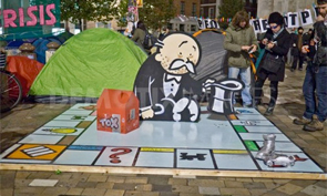 Banksy Occupy London Monopoly Sculpture
