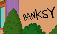 Banksy Getting Up in The Simpons