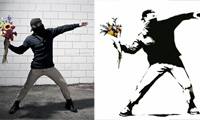 Banksy's Art Recreated in Real Life