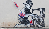 The Latest Banksy Stencil in London