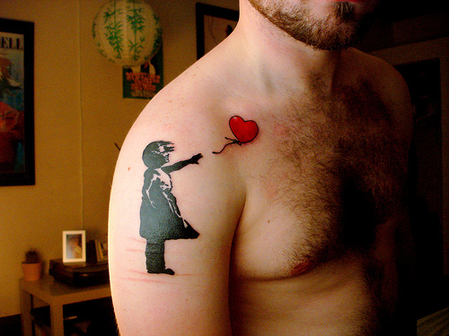 Banksy Tattoo Girl With Balloon