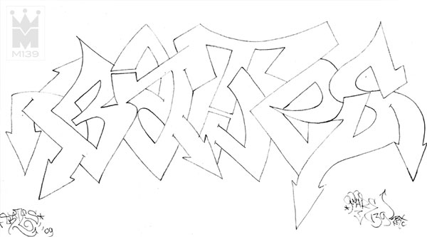 Bates Graffiti Sketch